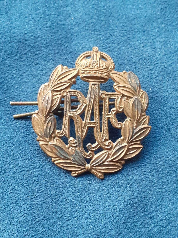WW2 RAF Cap Badge