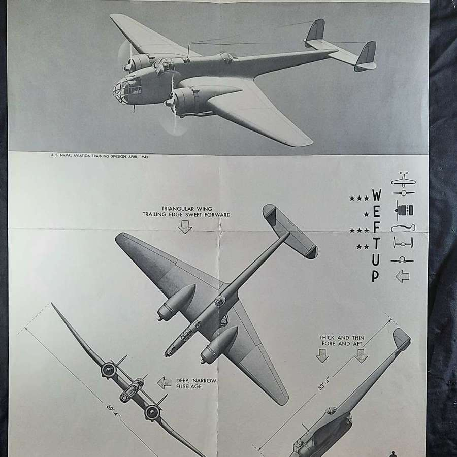 1943 Handley Page Hampden Recognition Poster