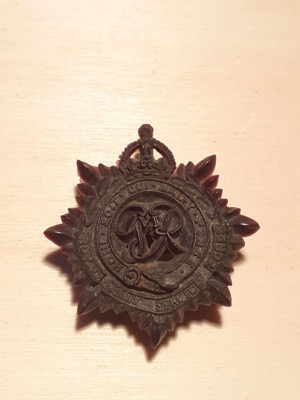 Royal Army Service Corps Bakelite Cap Badge