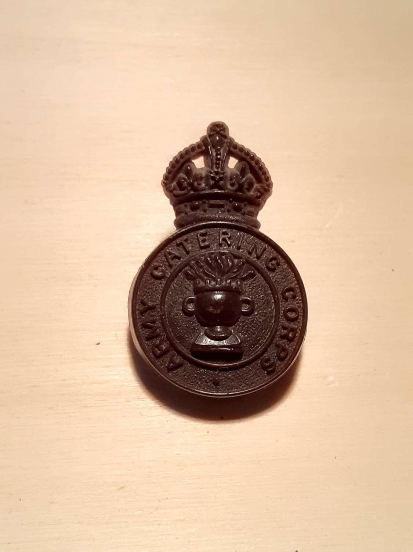 Army Catering Corps Bakelite Cap Badge