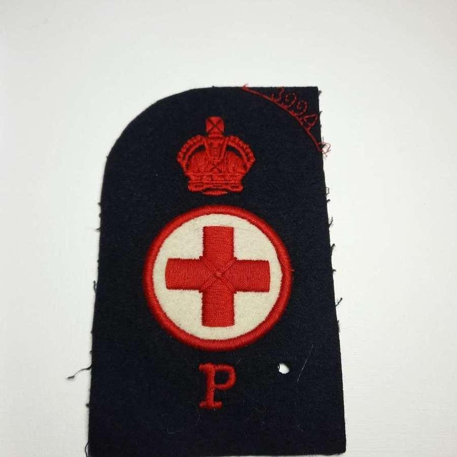 Royal Navy Sick Bay Physiotherapist Rating Insignia