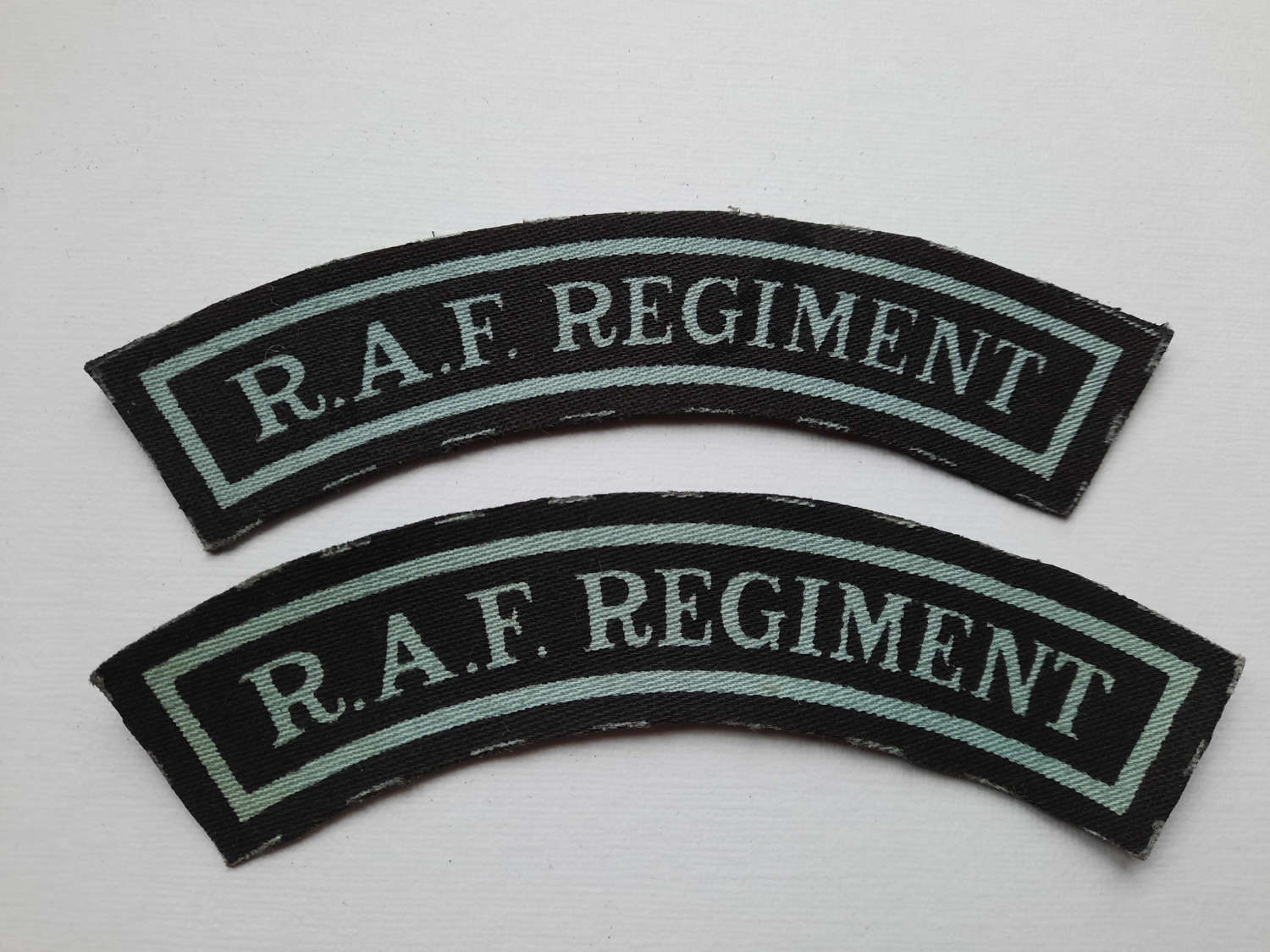 RAF Regiment Printed Shoulder Titles