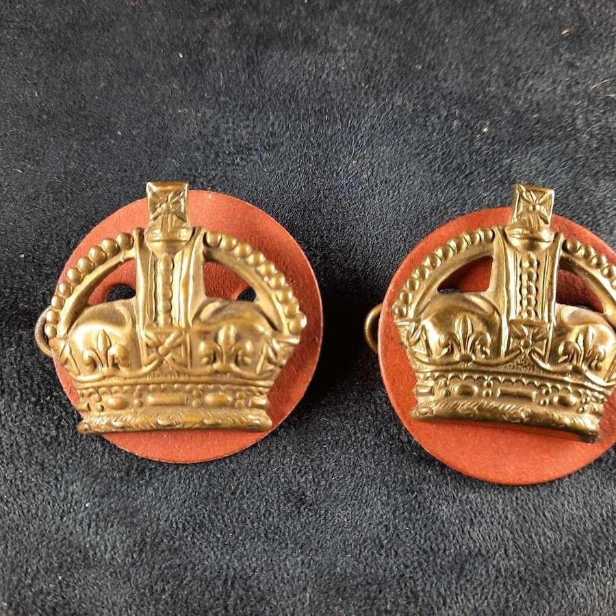 Flight Sergeant Brass Crowns