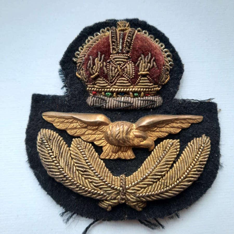 RAF/ RCAF Officer's Cap Badge