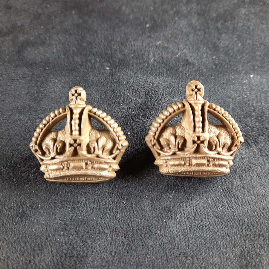 Major/ Flight Sergeant Bakelite Crowns