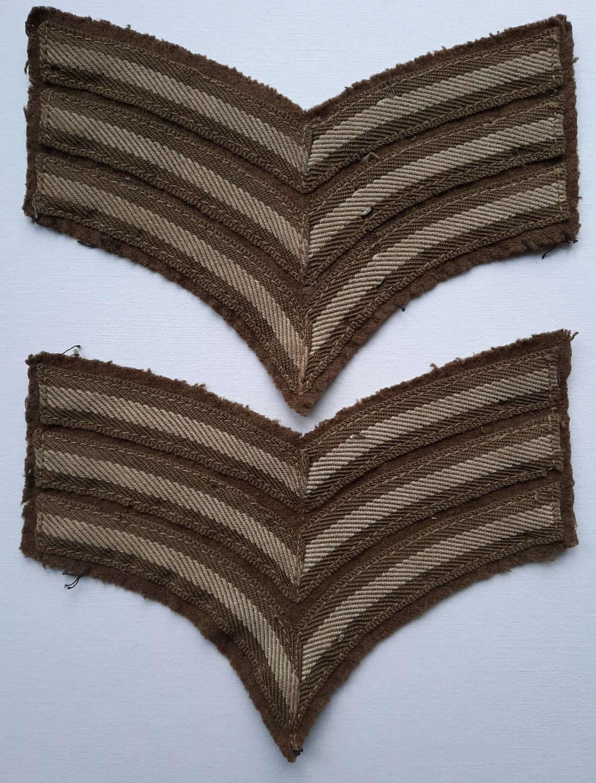 WW2 British Army Cloth Sergeant Chevrons