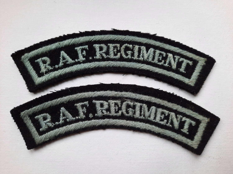 RAF Regiment Shoulder Titles