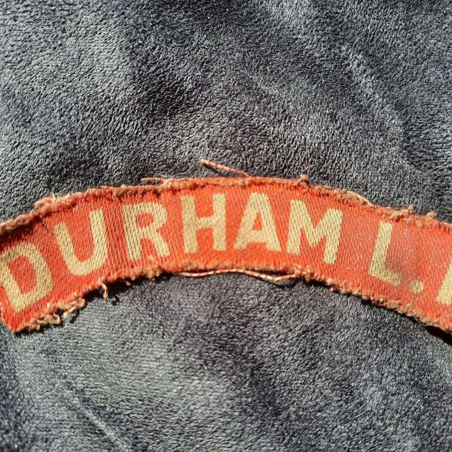Durham Light Infantry Printed Shoulder Title