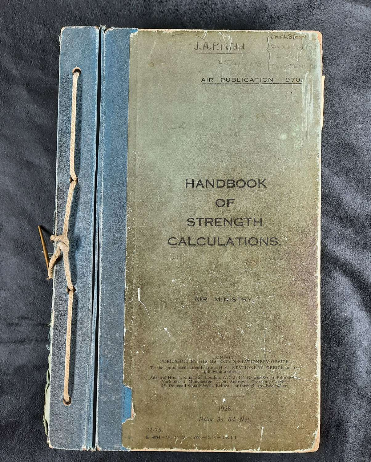 1928 Handbook of Strength Calculations