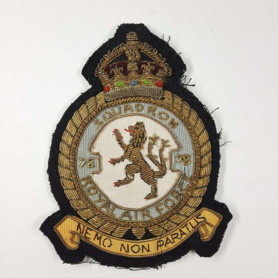 WW2 RAF 78 Squadron Blazer Badge