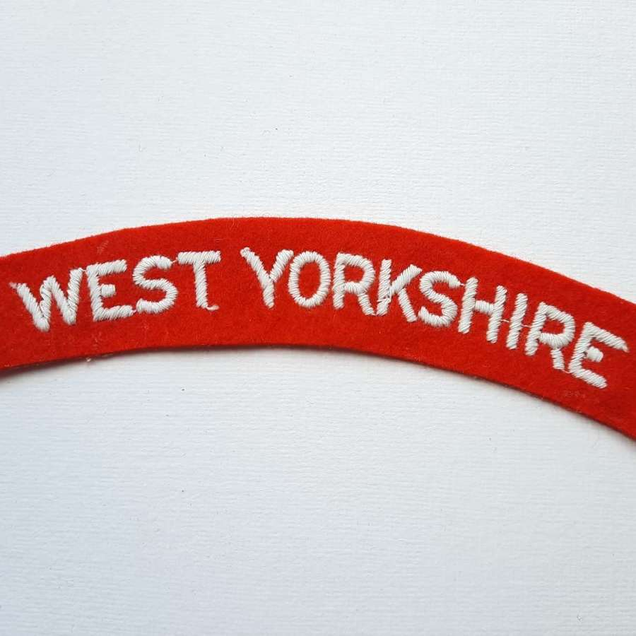 West Yorkshire Regiment Shoulder Title