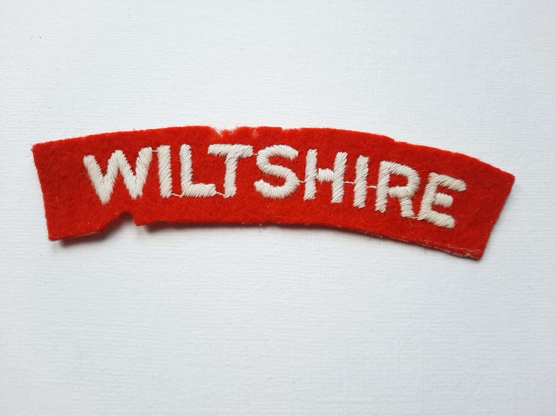 Wiltshire Regiment Shoulder Title