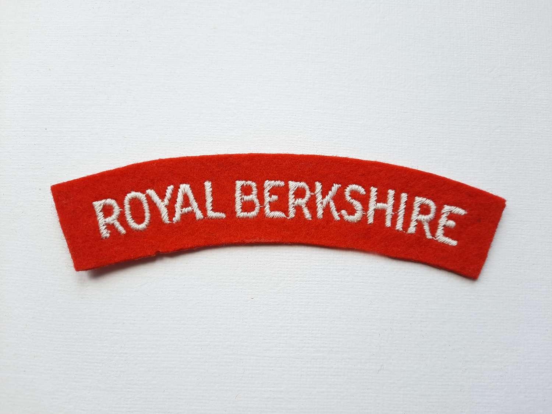 Royal Berkshire Regiment Shoulder Title