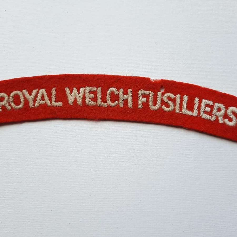 Royal Welch Fusiliers Shoulder Title