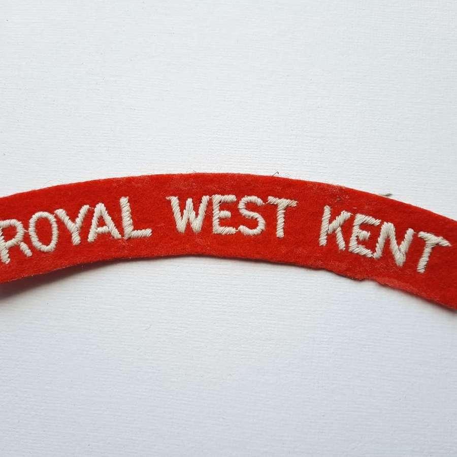Royal West Kent Regiment Shoulder Title