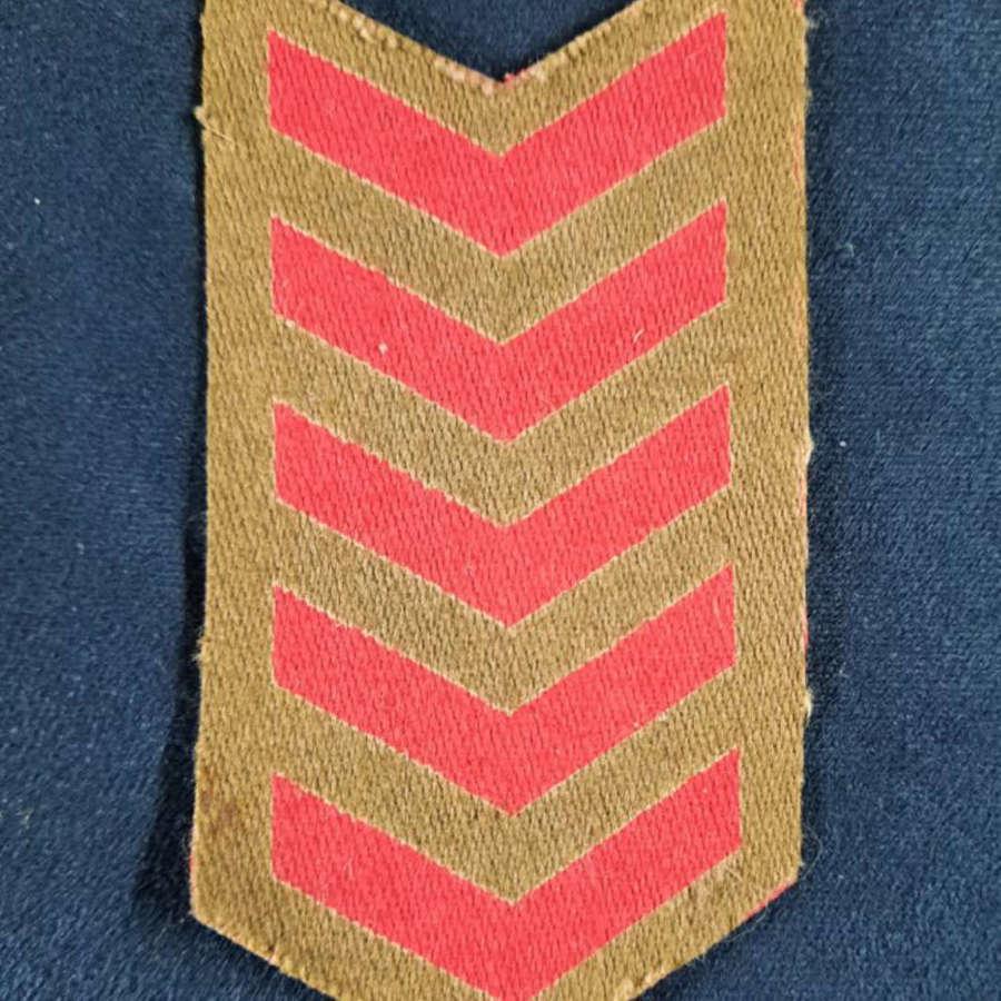 WW2 BRITISH ARMY PRINTED SERVICE STRIPES