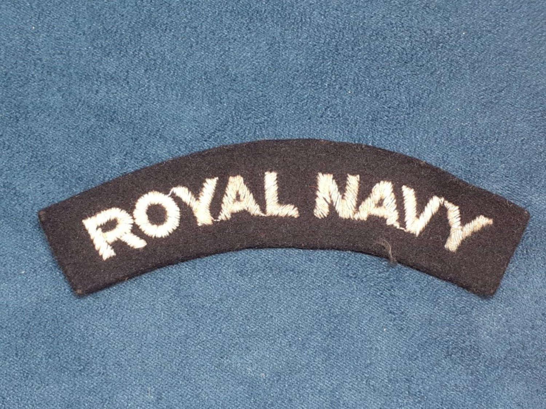 Royal Navy Paste Shoulder Title