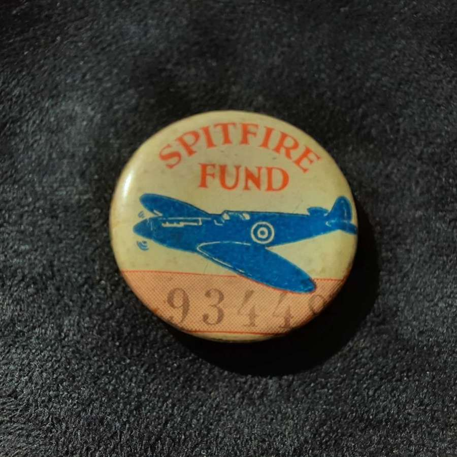 Spitfire Fund Button Badge