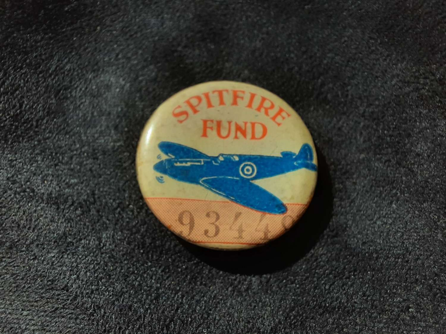 Spitfire Fund Button Badge