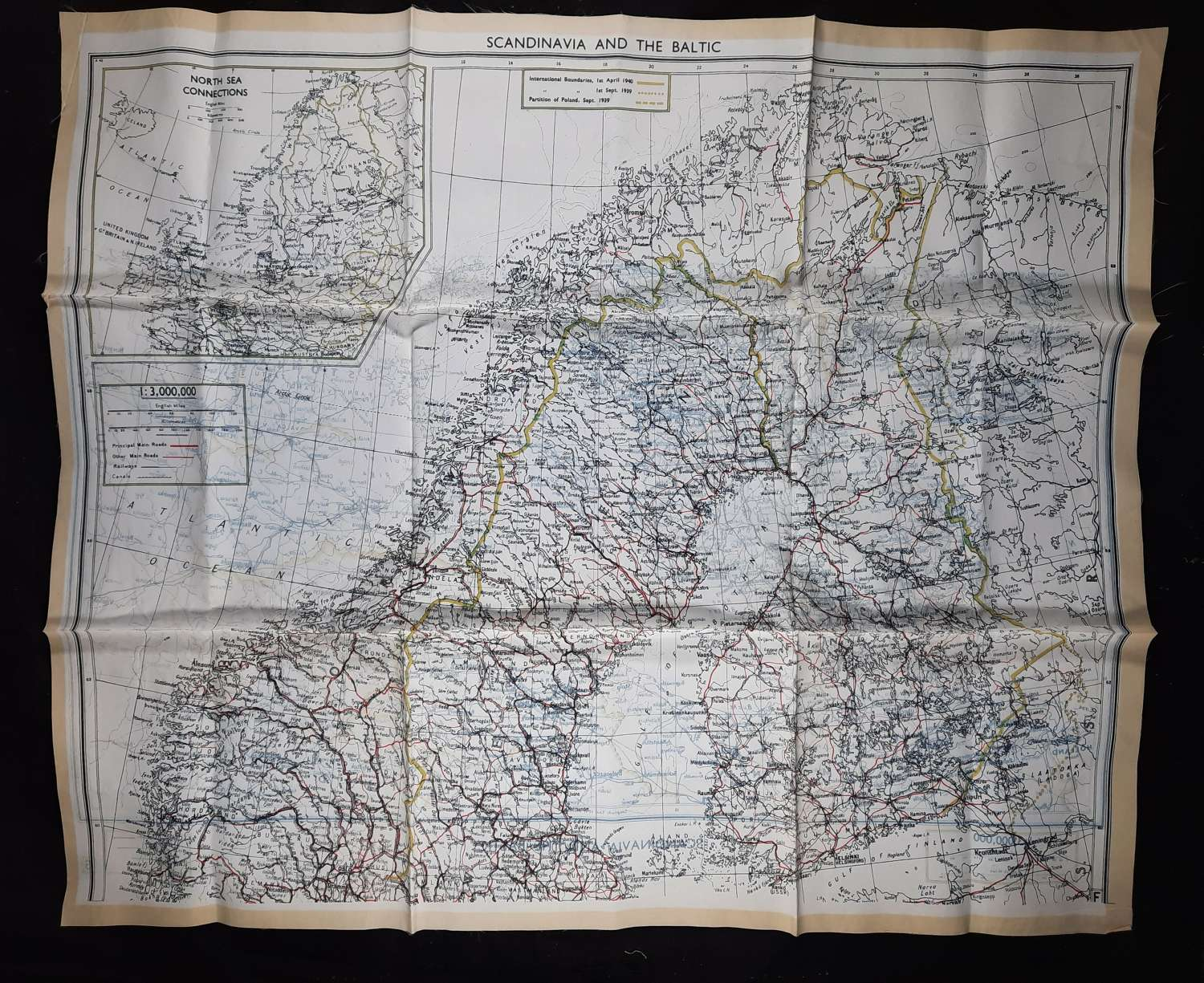 RAF Escape Map Scandinavia and the Baltic