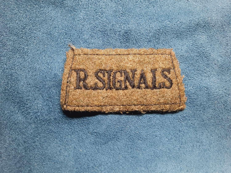 Royal Signals Slip On Shoulder Title