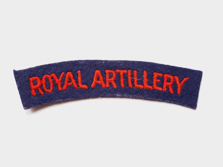 Royal Artillery Shoulder Title