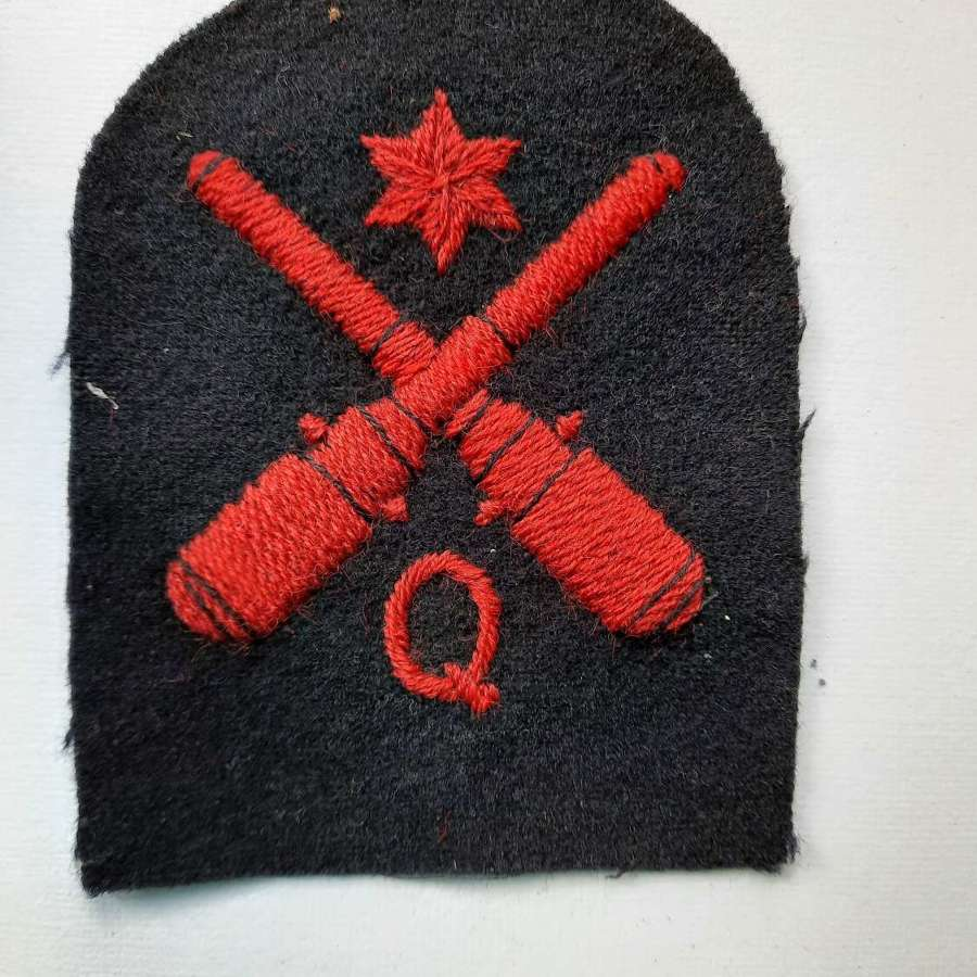 Royal Navy Quarters Rating 2nd Class Patch