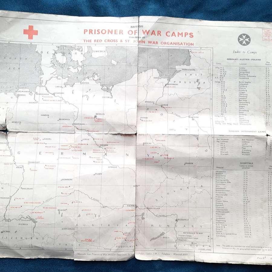 WW2 Prisoner of War Camp Map
