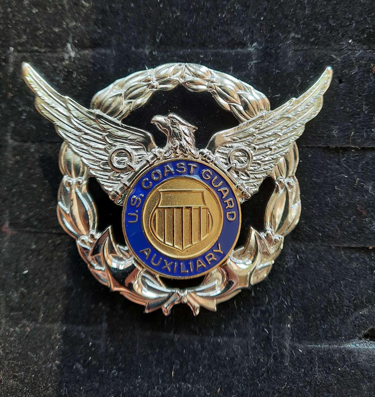 US Coast Guard Auxiliary Cap Badge