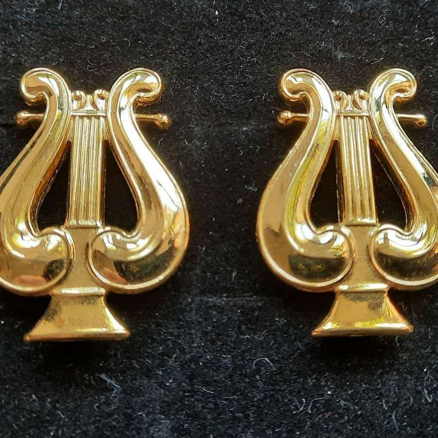 US Army Musician Officer Collar Devices