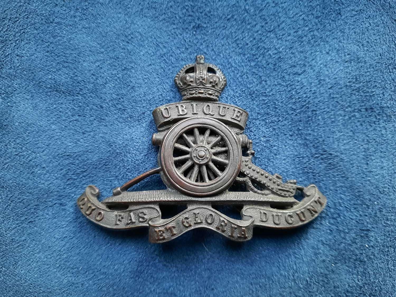 Royal Artillery Officer's Cap Badge