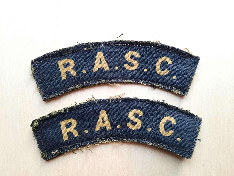 RASC Printed Shoulder Titles Pair
