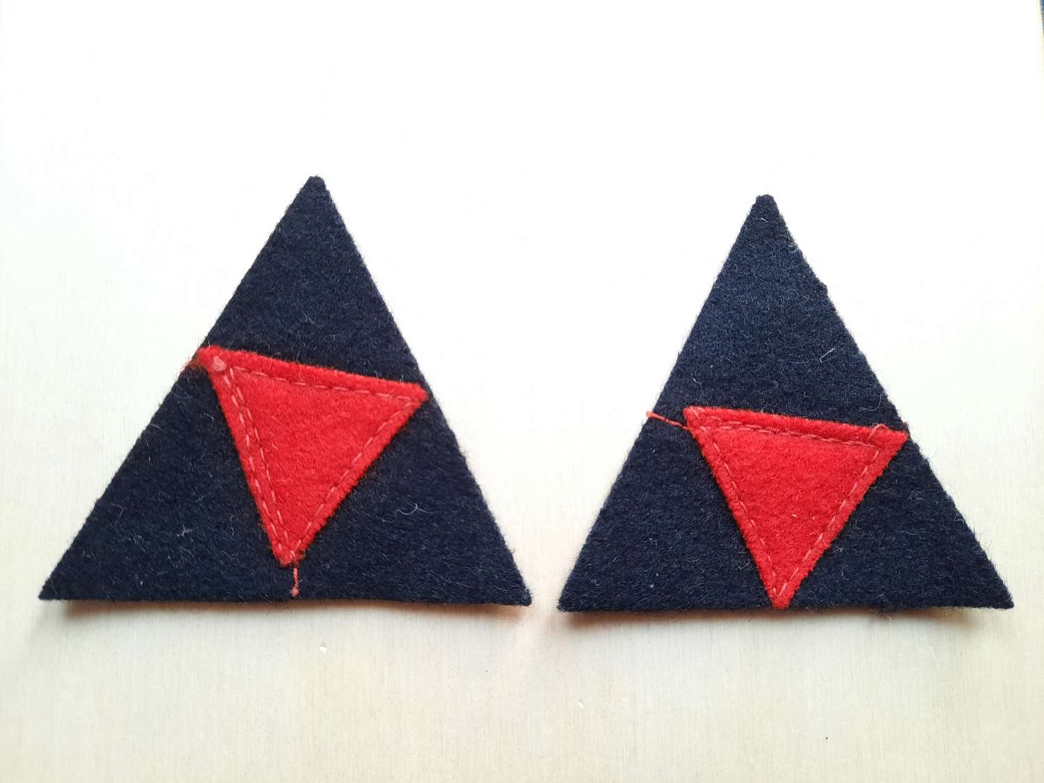 British 3rd Division Formation Signs Pair