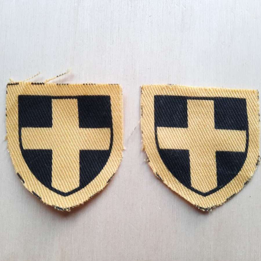 38th (Welsh) Division Formation Signs Pair