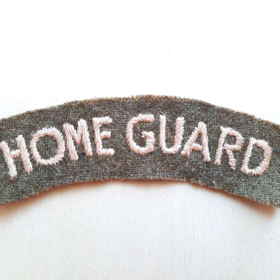 Home Guard Shoulder Title