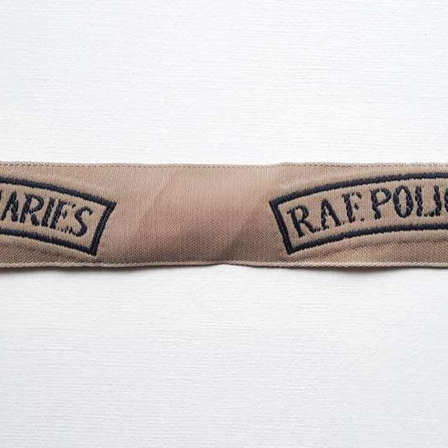 RAF Police Auxiliaries Shoulder Titles